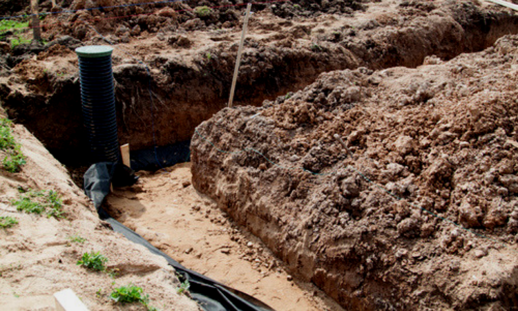 Importancia del drenaje en la construcción de piscinas.