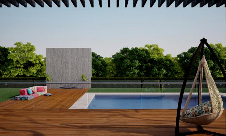 Ventajas de la cerámica para terrazas y piscinas.