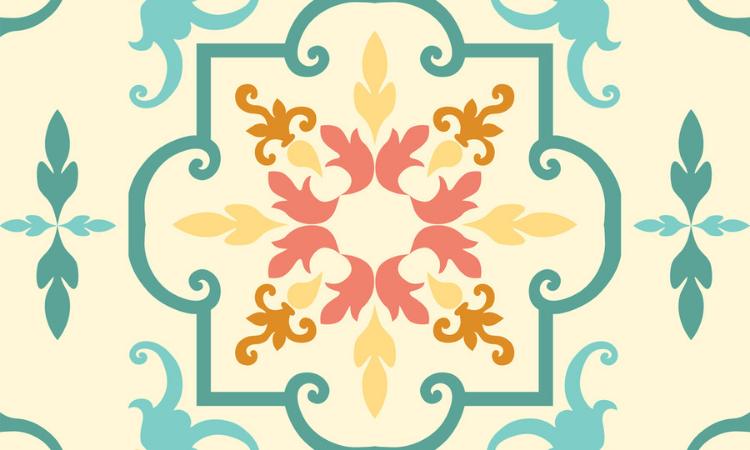 Claves decorativas de los azulejos cuadrados